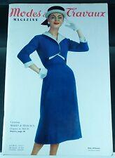 MODE & TRAVAUX n° 676 avril 1957 magazine ancien revue ancienne patron poupée