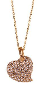 Crystals From Swarovski Alana Heart Pendant Necklace Gold Plated Authentic 7119v