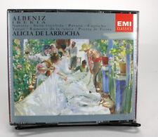 ALBENIZ IBERIA ALICIA DE LARROCHA DOUBLE CD EMI CLASSICS B