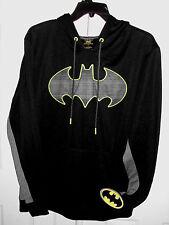 Men's New XL Black & Gray D.C Comics Neon Batman Logo Print Hoodie