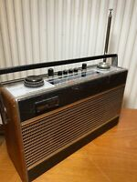 ROBERTS R606-MB VINTAGE ANTIQUE RADIO AFC/LW/MW/VHF BLACK TESTED & WORKING
