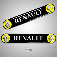 2 RENAULT 3D STICKERS DOME RESIN BADGE WHEEL EMBLEM CAR AUTO MOTO TUNING SPORT