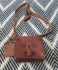 ZARA Brown Tooled Embossed Mini Leather Shoulder Crossbody Bag Boho Handbag
