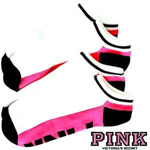 Victoria's Secret PINK Ultimate No Show Ankle Socks *2 Color Block + Bonus! $14