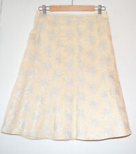 6 Anthropologie Embellished Snowflake Skirt Extremely Rare Made in USA