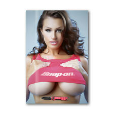 24 * Tool Box Fridge Magnet Sexy Snap - On Girl Beautiful Woman Mini Bikini
