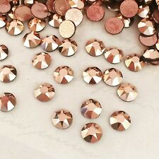 SWAROVSKI CRYSTALS HOTFIX 100x SS20 rhinestones diamantes hot fix ROSE GOLD flat