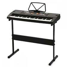 New Black 61 Key Electronic Music Keyboard Piano Organ with Black Stand 61H