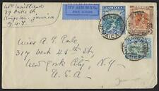 JAMAICA US 1932 AIR MAIL COVER KINGSTON PLUS NY