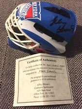 ADAM GRAVES SIGNED NEW YORK RANGERS HOCKEY MINI MASK W/COA,Red Wings,Oilers