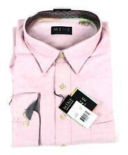 MINE Mens Button Up Shirt Size XXL Pink Long Sleeve $95 NWT 100% Cotton