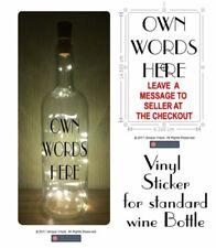 Light Up bottle - Design your own - Personalised Vinyl Sticker for bottle Gift