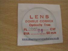 50 mm Double Convex/Bioconvex Verre Lentilles-Longueur Focale 250mm/25cm
