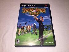 Swing Away Golf (Playstation PS2) Black Label Original Complete Excellent!
