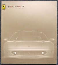 FERRARI 456M GT & 456M GTA Car Sales Brochure 1998 #1387/98