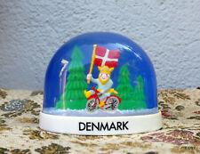 BOULE A NEIGE  DENMARK  danemark viking à velo...SNOW GLOBE