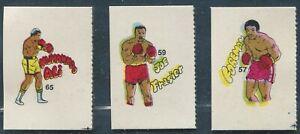 1985 Reyaucas (Venezuela) Ali Foreman Frazier boxing cards