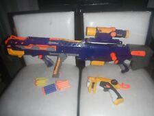 Nerf N Strike Longshot CS-6 Rifle Gun Scope Dart Sniper Blaster Barrel Blue NITE