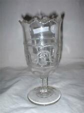 c1872 LaBelle Glass Co.Bridgeport,OH. Cord and Tassel Celery Vase