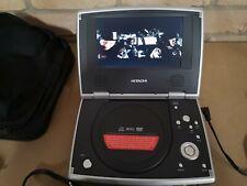 Hitachi pdv313 personal Portable DVD player 7 inch plus carry bag FREE POST G