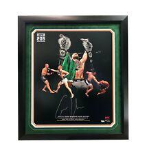 Conor McGregor Signed UFC 205 2 Belts Framed 20x24 Photo COA Fanatics Autograph