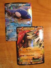 NM/M Pokemon Kyogre + Groudon Ex Carte XY Étoile Noire Promo Ultra Rare XY41