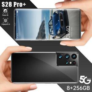 S28 Pro+ 6.1 Inch 6000mAh Andriod 11 Face ID Dual SIM smart Phones 10 Core 256GB