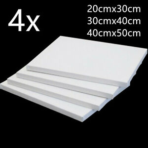 (4Pack) BLANK PLAIN STRETCHED PAINTING ART ACRYLIC CANVAS BOARD ARTIST BEGINNER