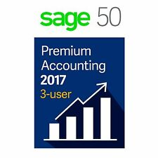 SAGE 50 (PEACHTREE) 2017 PREMIUM (3 USERS)  + DVD (NOT A SUBSCRIPTION)