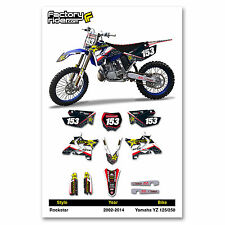 2002-2017 YAMAHA YZ 125-250 Restyle UFO Rockstar Dirt Bike Graphics kit Decal