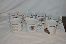 7 Vintage Old Ironsides Seltmann Weiden West Germany Coffee Cocoa Cups
