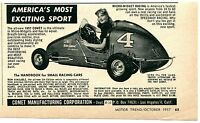 1957 small Print Ad of Comet Micro Midget Racing America's Most Exciting Sport