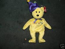 Ty Happy Birthday Beanie Bear NWT 2004 FREE FAST SHIP!