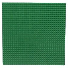 "LEGO - Large Baseplate 32 x 32 - (10"") - Flat Base Plate - Green"