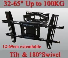 """Heavy Duty Wall Mount Tilt Swivel Bracket Double Arms 32-65"""" LED/Plasma/LCD TV"""