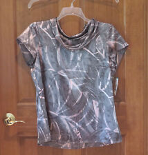 Jones Wear Gray and Pink Cowl Blouse  16  L  NWT  Orig. $54