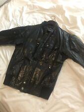 Genuine Vintage Bomber Leather Jacket Small