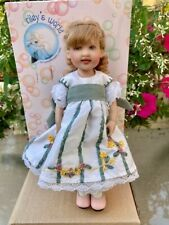 "Helen Kish 8"" Miss Kiley of Charleston Doll Jointed, Signed COA Silk Dress NEW"