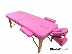 Lettino in Legno per Massaggi Estetista con Poggiabraccia Poggiatesta Foro Viso