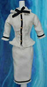 OoP Barbie White Navy Business Suit Top Skirt Outfit Formal Fashion Silkstone