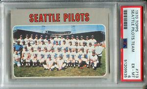 1970 Topps #713 Seattle Pilots PSA 6 EX-MT