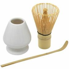 Chasen Tea Whisk and Chashaku Hooked Bamboo Scoop preparing Matcha from JAPAN