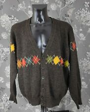 VINTAGE BENETTON SHETLAND WOOL CARDIGAN. MADE IN ITALY. Size XL