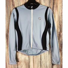 Pearl Izumi For Women Small Cycling Spin Bike Jacket Blue Black Back Pockets EUC
