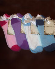 Laura Ashley Women's Warm Fuzzy Slipper Socks Pink/Fuschia 2Tone