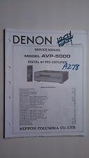 Denon avp-5000 service manual original repair book stereo pre amp amplifier