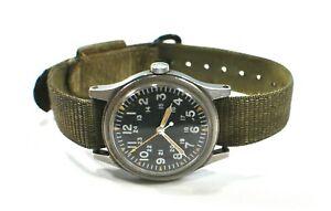 Original HAMILTON 1978 Military Wrist Watch GG-W-113 w/Strap
