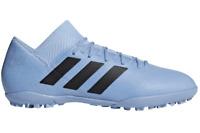 Adidas Nemeziz Messi Tango 18.3 Turf Soccer Shoes DB2221 Ash Blue Black Mens 12