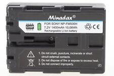 Minadax Li-Ion Akku für Sony Alpha A500 A300 A100 A77 A65 etc -wie der NP-FM500H