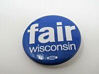 fair Wisconsin Pin Button Vintage